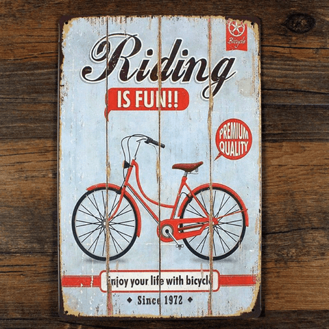 Vintage cycling sign