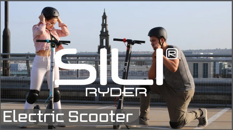 Sili Electric Scooter In London Rooftop Promotional Image