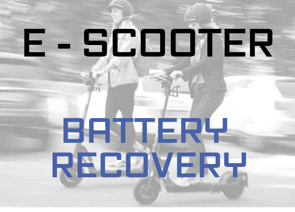 electric scooter battery recovery repair