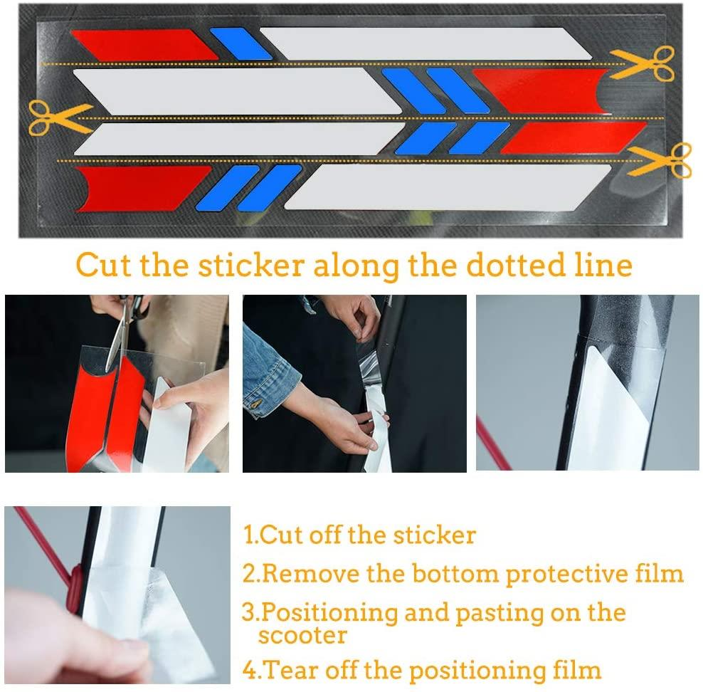 Universal - Electric Scooter Reflective Sticker Kit Accessory