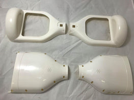 "6.5 INCH WHITE REPLACEMENT CASE SHELL (6.5"") - NO LED COVERS"
