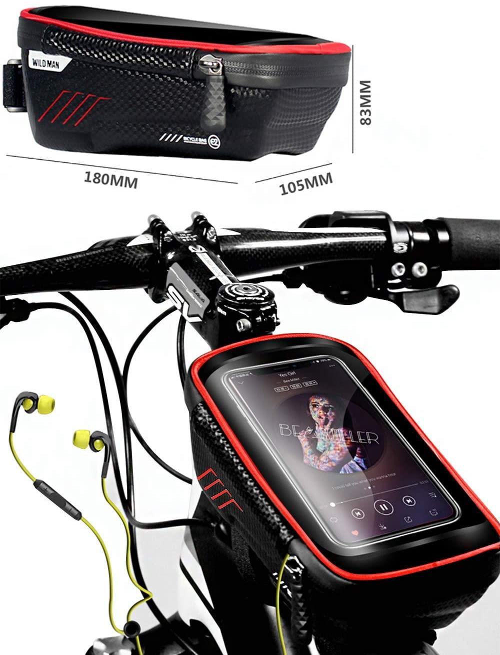 W.Proof Phone Bag Touch Screen up to 6.5 inches, Storage for Electric Scooter and Bicycle Accessory