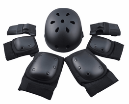 7PCS Protective Gear Safety Helmet Children Knee Elbow Pad Set-Smart Boards UK