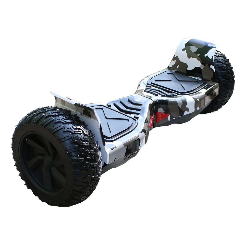 ALL TERRAIN BLUETOOTH 8.5″ HOVERBOARD SWEGWAY IN ARMY CAMO & SILI OFF ROAD HOVERBOARD BUNDLE