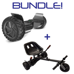 ALL TERRAIN 8.5″ HOVERBOARD SWEGWAY WITH INTEGRATED APP + SILI OFFROAD SUSPENSION HOVERKART BUNDLE