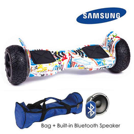WHITE GRAFFITI ALL TERRAIN BLUETOOTH 8.5″ HOVERBOARD SWEGWAY