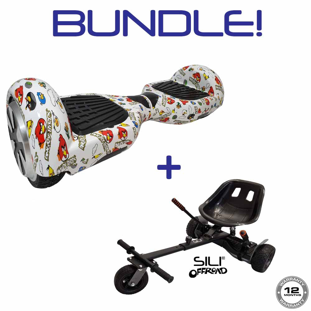 Classic Hoverboard (ANGRY BIRDS DESIGN) + SILI Offroad Hoverkart **BUNDLE**