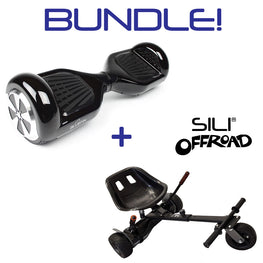 BLUEFIN™ 6.5″ CLASSIC HOVERBOARD SWEGWAY IN BLACK + SILI OFFROAD KART BUNDLE