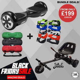 "BLACK FRIDAY!! - 6.5"" Hoverboard + Offroad Hoverkart + Bag + Silicone **Bundle**"