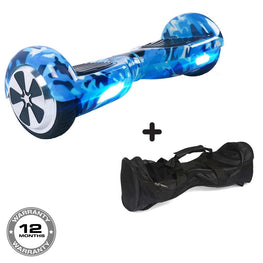 Classic Hoverboard in Blue Camo + Free Bag!