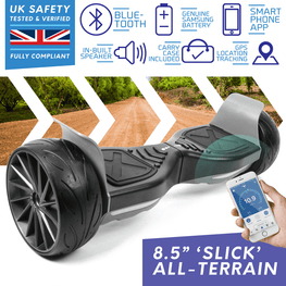 BLUEFIN™ SLICK TERRAIN SPORT 8.5″ HOVERBOARD SWEGWAY WITH INTEGRATED APP + HOVERKART BUNDLE