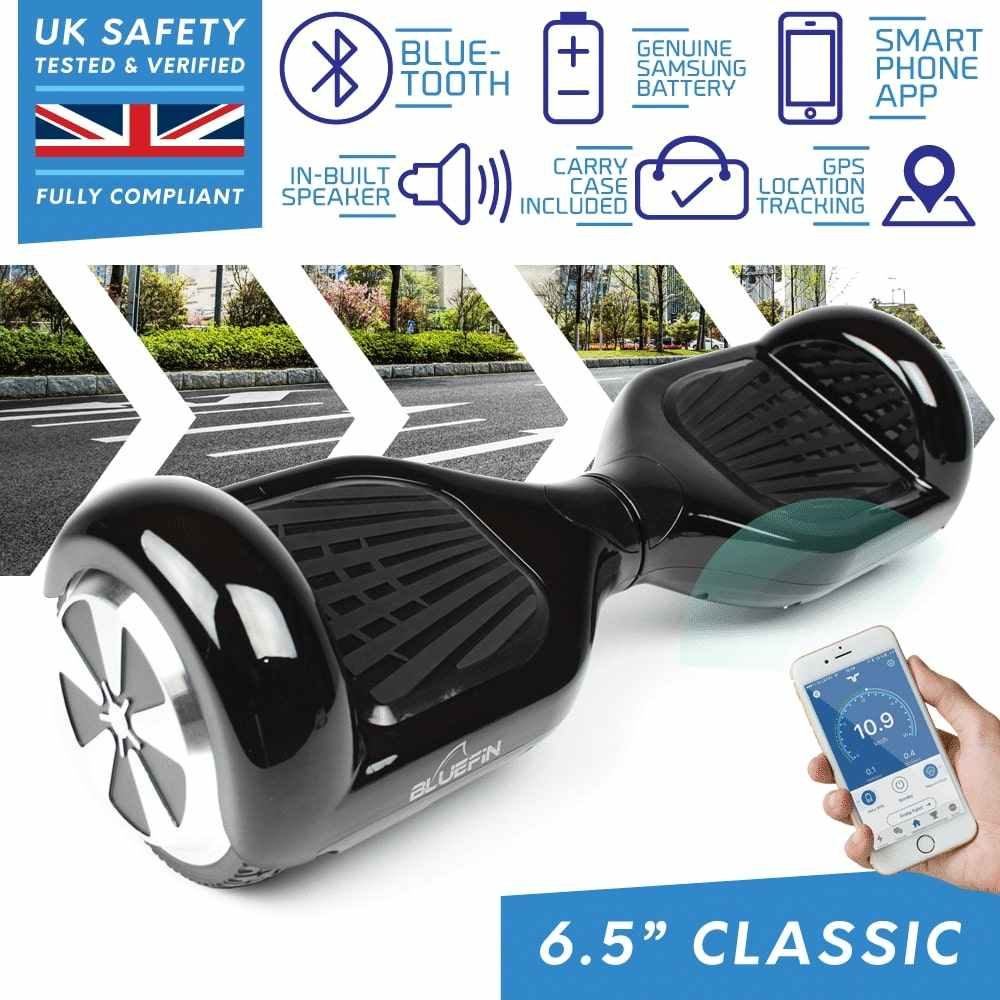 BLUEFIN™ 6.5″ CLASSIC HOVERBOARD SWEGWAY IN BLACK