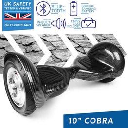 BLUEFIN™ 10″ COBRA HOVERBOARD SWEGWAY IN CARBON FIBRE