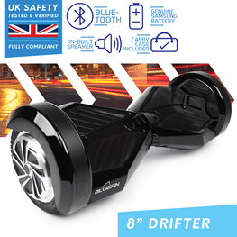 BLUEFIN™ 8″ DRIFTER HOVERBOARD SWEGWAY IN BLACK