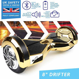 BLUEFIN™ 8″ DRIFTER HOVERBOARD SWEGWAY IN GOLD CHROME