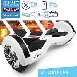 BLUEFIN™ 8″ DRIFTER HOVERBOARD SWEGWAY IN WHITE