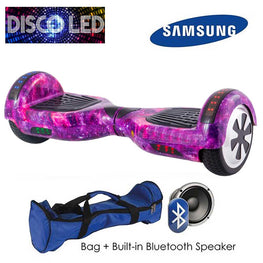 DISCO LED 6.5″ CLASSIC HOVERBOARD SWEGWAY IN GALAXY DESIGN