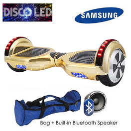 DISCO LED 6.5″ CLASSIC HOVERBOARD SWEGWAY IN GOLD CHROME