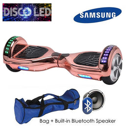 DISCO LED 6.5″ CLASSIC HOVERBOARD SWEGWAY IN ROSE GOLD CHROME