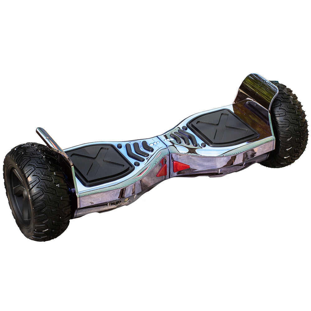 ALL TERRAIN BLUETOOTH 8.5″ HOVERBOARD SWEGWAY IN CHROME PINK