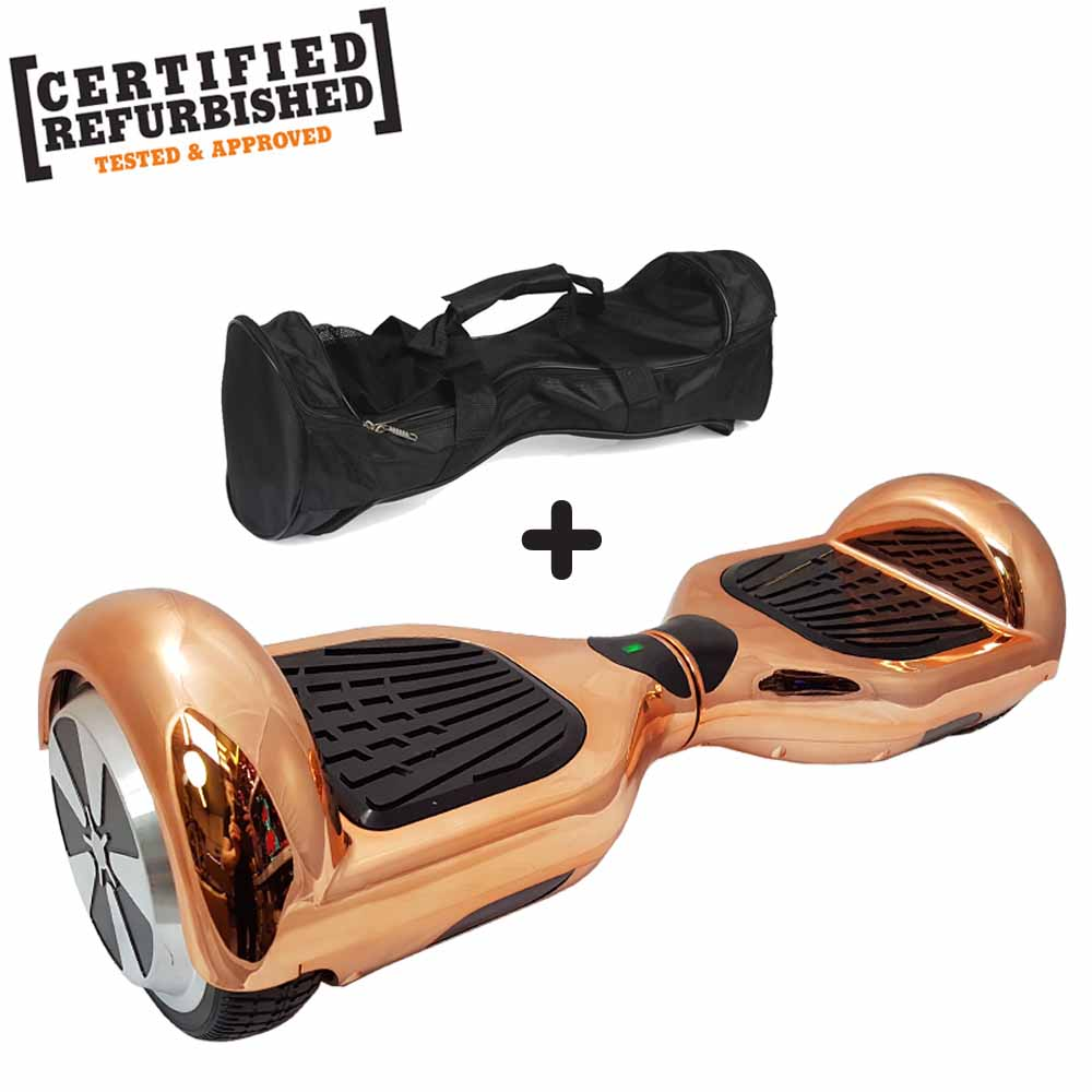 REFURBISHED 6.5″ ROSE GOLD CHROME HOVERBOARD + BAG