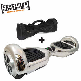 REFURBISHED 6.5″ SILVER CHROME HOVERBOARD + BAG