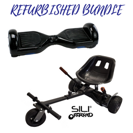 REFURBISHED 6.5″ BLACK HOVERBOARD + SILI OFFROAD HOVERKART BUNDLE