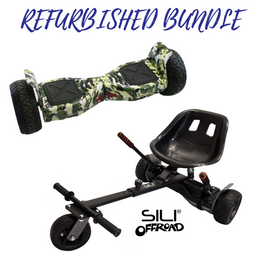 REFURBISHED ALL TERRAIN 8.5″ HOVERBOARD CAMO + SILI OFFROAD SUSPENSION HOVERKART BUNDLE