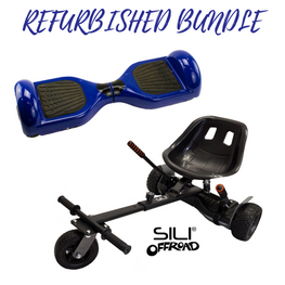 REFURBISHED Bluefin™ 6.5″ BLUE CLASSIC HOVERBOARD + SILI OFFROAD SUSPENSION HOVERKART BUNDLE
