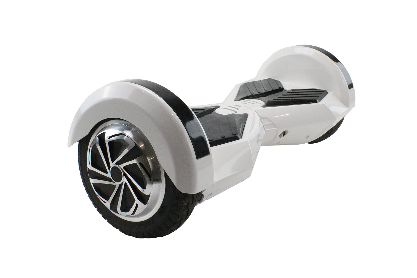 REFURBISHED Bluefin™ 8″ WHITE TRANSFORMER HOVERBOARD + SILI OFFROAD SUSPENSION HOVERKART BUNDLE