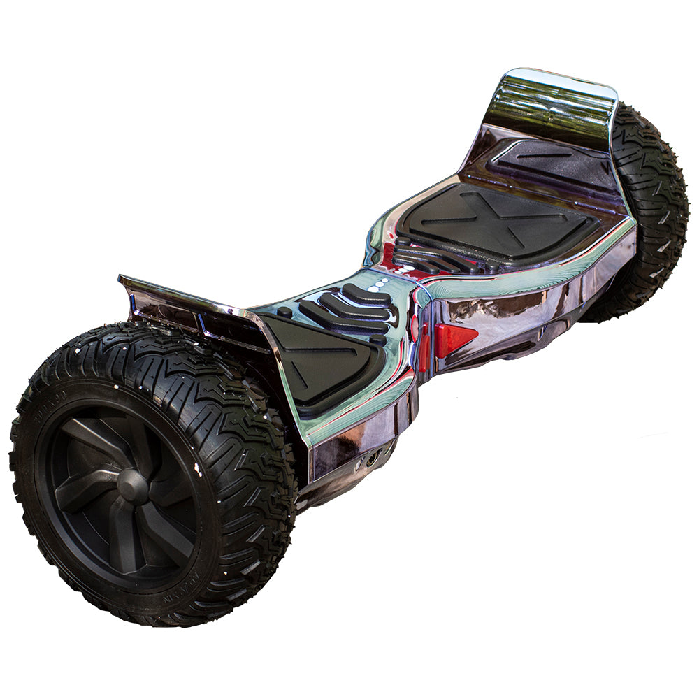 ALL TERRAIN BLUETOOTH 8.5″ HOVERBOARD SWEGWAY IN CHROME PINK & SILI OFF ROAD HOVERKART BUNDLE