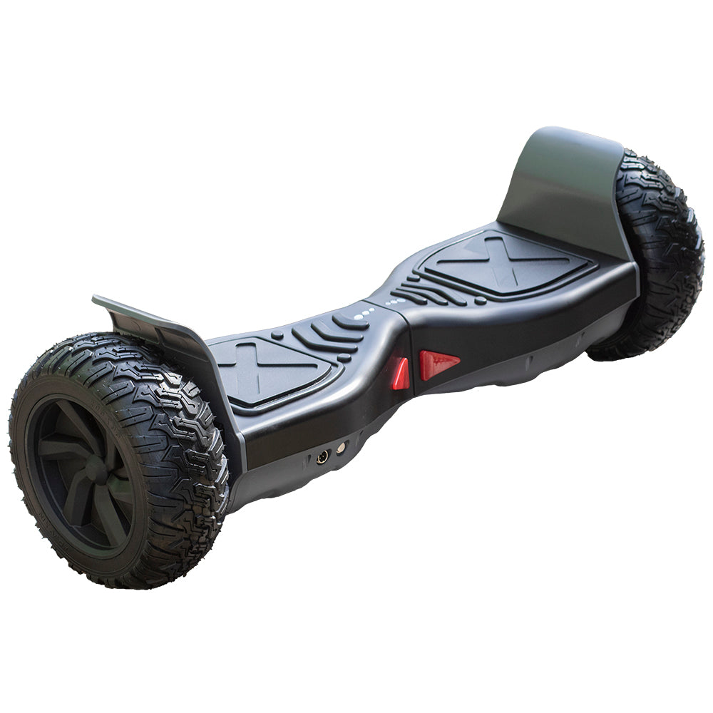 ALL TERRAIN BLUETOOTH 8.5″ HOVERBOARD SWEGWAY IN BLACK AND GREY & SUSPENSION HOVERKART BUNDLE