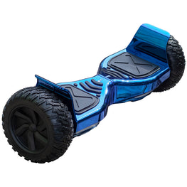 ALL TERRAIN BLUETOOTH 8.5″ HOVERBOARD SWEGWAY IN CHROME BLUE