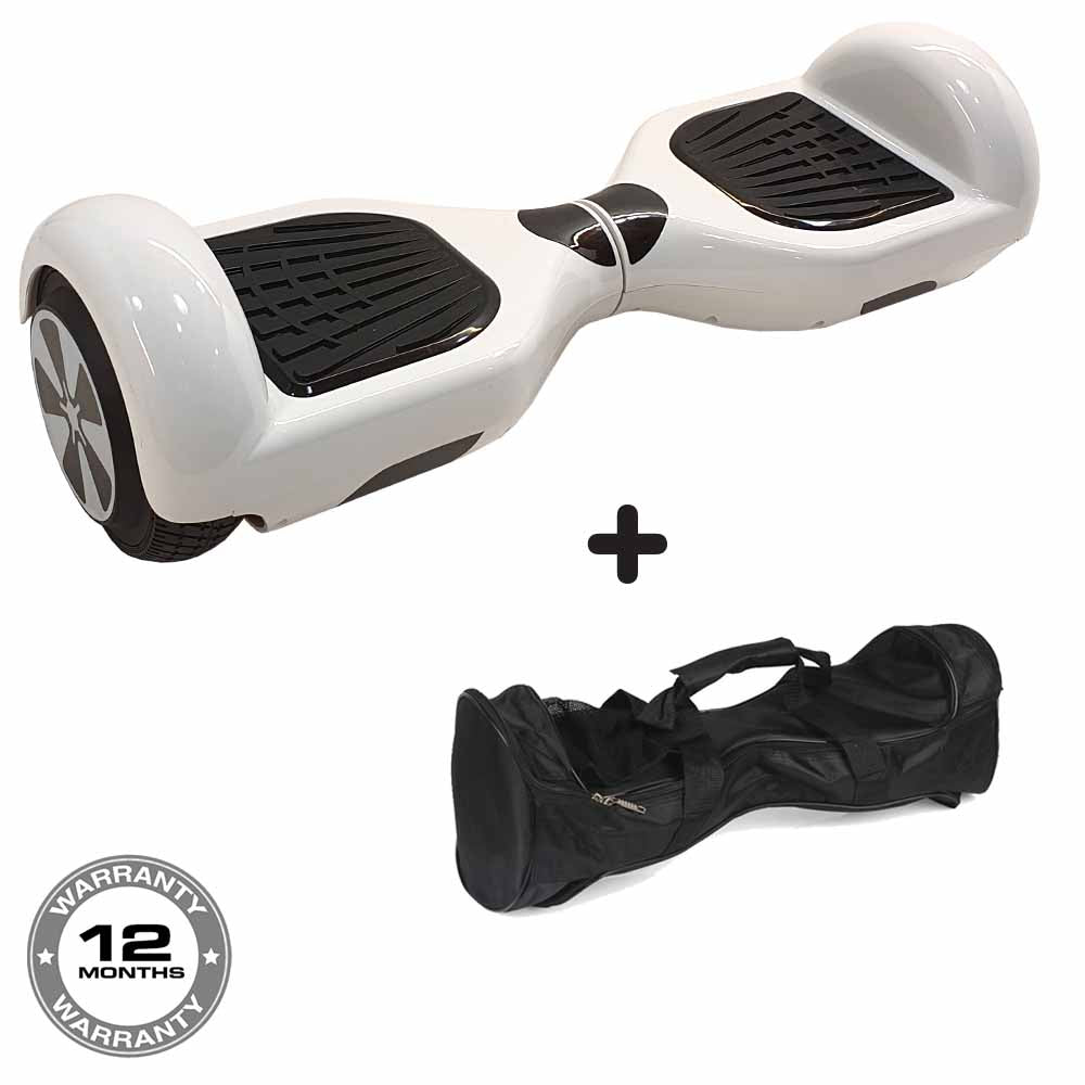 Classic Hoverboard in White + Free Bag!