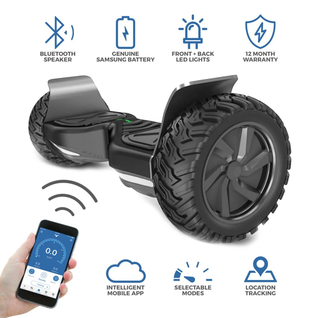 BLUEFIN™ ALL TERRAIN 8.5″ HOVERBOARD SWEGWAY WITH INTEGRATED APP