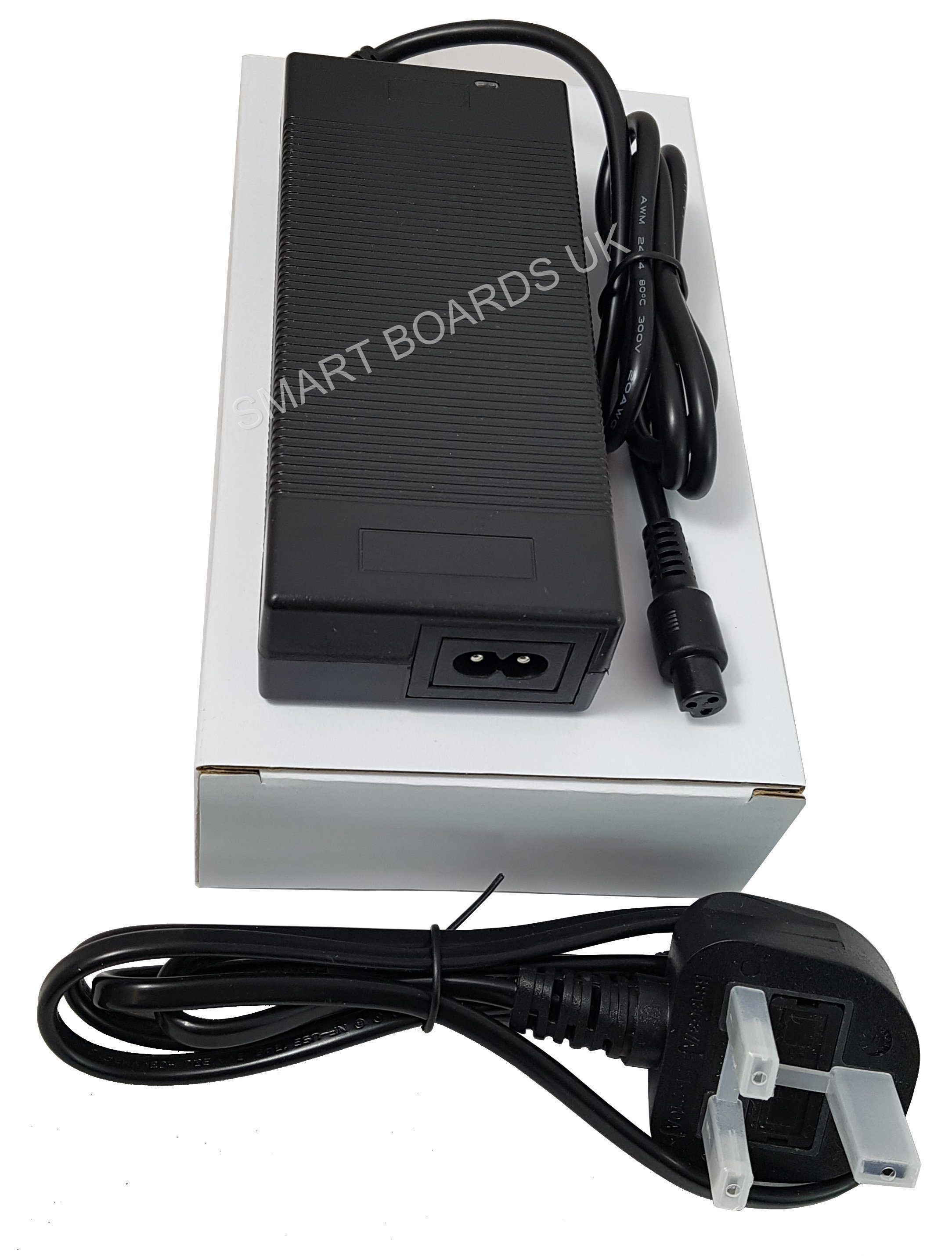 BATTERY CHARGER (42V 2A) STANDARD UK FOR ALL MODELS-Smart Boards UK