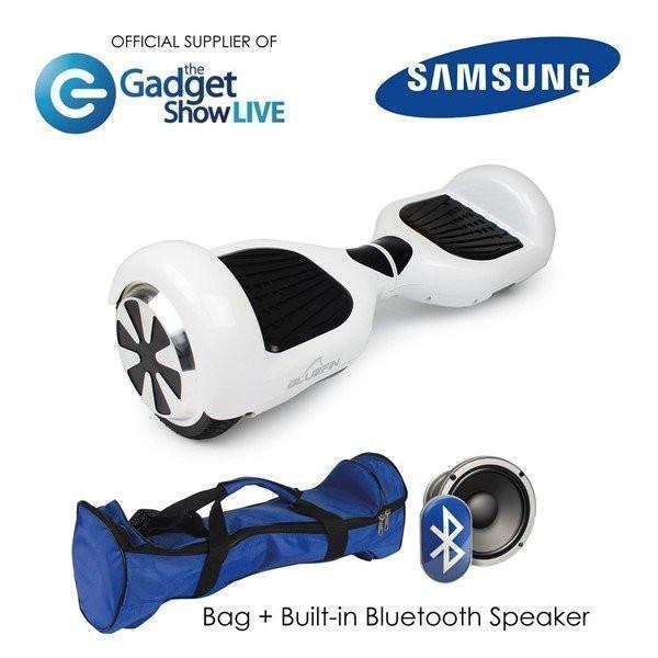 BLUEFIN™ 6.5″ CLASSIC HOVERBOARD SWEGWAY IN WHITE + HOVERKART BUNDLE-Smart Boards UK