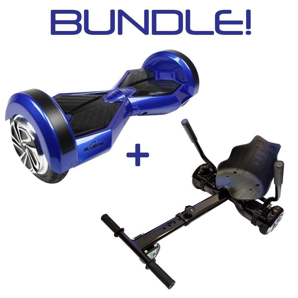 BLUEFIN™ 8″ DRIFTER HOVERBOARD SWEGWAY IN BLUE + HOVERKART BUNDLE-Smart Boards UK