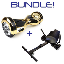 BLUEFIN™ 8″ DRIFTER HOVERBOARD SWEGWAY IN GOLD CHROME + HOVERKART BUNDLE-Smart Boards UK