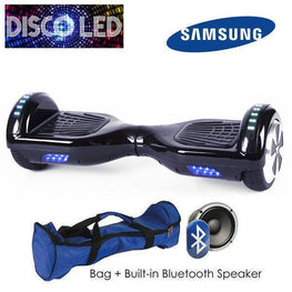 DISCO LED 6.5″ CLASSIC HOVERBOARD SWEGWAY IN BLACK-Smart Boards UK