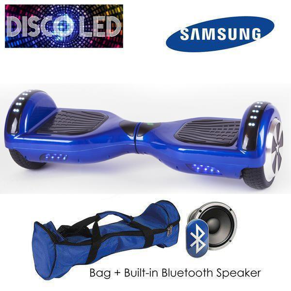 DISCO LED 6.5″ CLASSIC HOVERBOARD SWEGWAY IN BLUE-Smart Boards UK