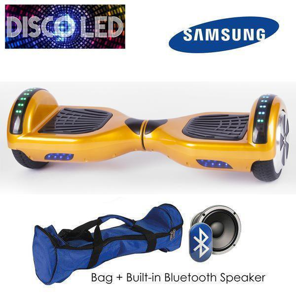 DISCO LED 6.5″ CLASSIC HOVERBOARD SWEGWAY IN GOLD-Smart Boards UK