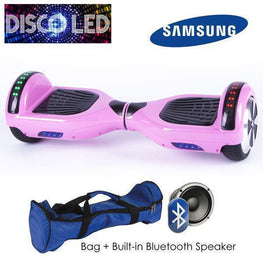 DISCO LED 6.5″ CLASSIC HOVERBOARD SWEGWAY IN PINK-Smart Boards UK
