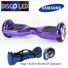 DISCO LED 6.5″ CLASSIC HOVERBOARD SWEGWAY IN PURPLE-Smart Boards UK