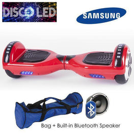 DISCO LED 6.5″ CLASSIC HOVERBOARD SWEGWAY IN RED-Smart Boards UK