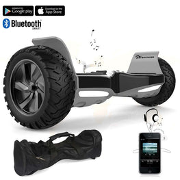 BLACK ALL TERRAIN BLUETOOTH 8.5″ HOVERBOARD SWEGWAY + APP + Bluetooth + BAG