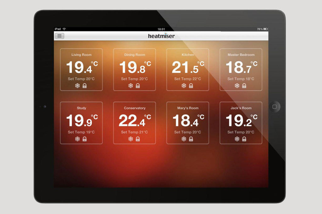 Heatmiser Tablet App