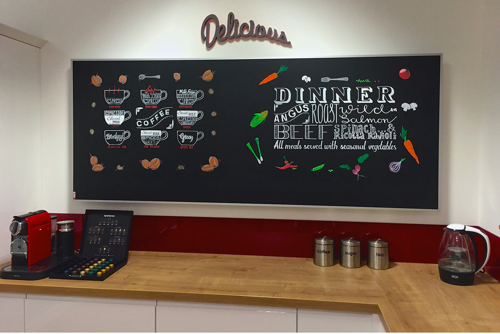 Redwell Blackboard Infrared Heater in a Kitchen