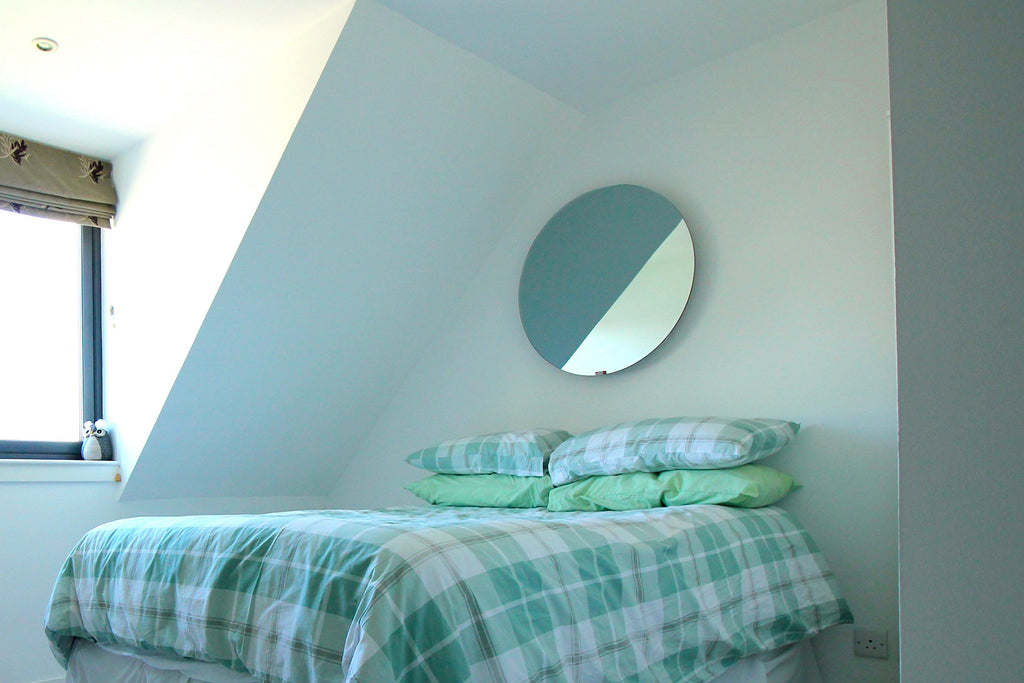 Redwell Infrared Heater Mirror in a Bedroom