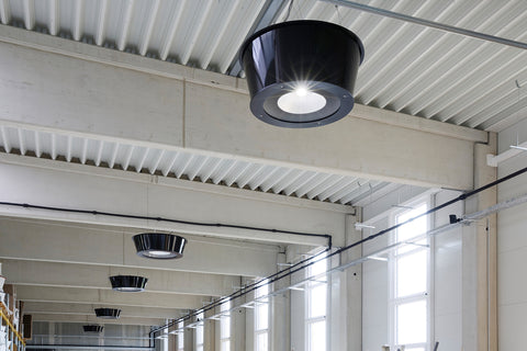 Redwell Infrared Heater Lighting in a Warehouse